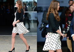 kate middleton dresses her best in polka dots